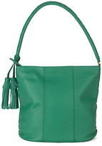 Condura NEW Leather Tote with Tassels Green