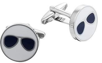 Code Red Men's Novelty Sunglasses Base Metal Cufflinks