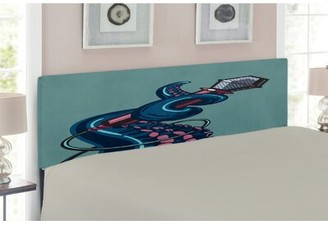 East Urban Home Octopus Upholstered Panel Headboard Size: Twin