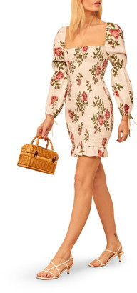 Reformation Hilary Long Sleeve Minidress