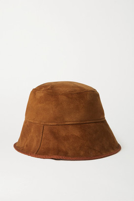 CLYDE Shearling Bucket Hat - Brown