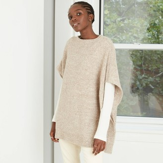 Universal Thread Women' Poncho weater - Univeral ThreadTM Olive