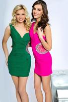 Jovani Stunning One Shoulder Sweetheart Mini Dress JVN90359