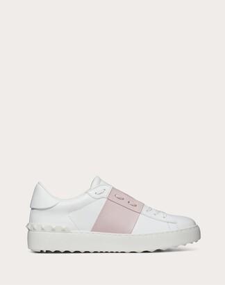 Valentino Open Sneaker In Calfskin Leather Women Light Pink Calfskin 100% 36.5