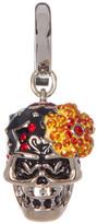 Swarovski Pave Crystal Flower Skull Charm