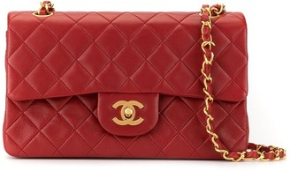 Chanel Pre Owned Quilted Double Flap Shoulder Bag