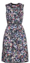 Erdem Ivana perforated-neoprene dress