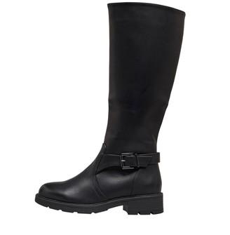Board Angels Womens Knee High Buckle Boots Black