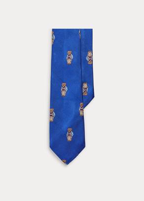 Ralph Lauren Preppy Bear Silk Tie