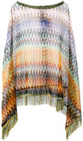 M Missoni asymmetric draped poncho - women - Viscose/Nylon - One Size