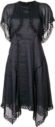 Isabel Marant Embroidered Flared Dress