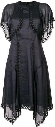 Isabel Marant embroidered flared dress