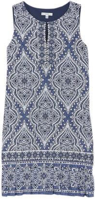 Sandra Darren Printed Sleeveless Sheath Dress