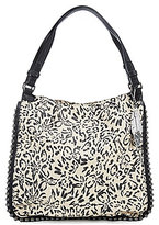 Jessica Simpson Camile Studded Leopard-Print Tote