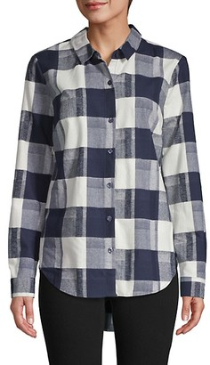 BCBGeneration Back Lace-Up Print Shirt
