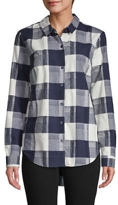 BCBGeneration Back Lace-Up Print Shirt