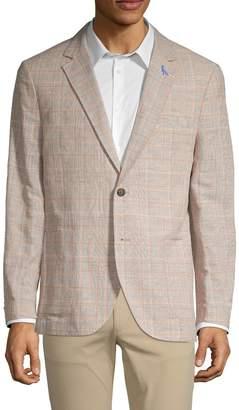 Tailorbyrd Plaid Linen & Cotton Blend Jacket