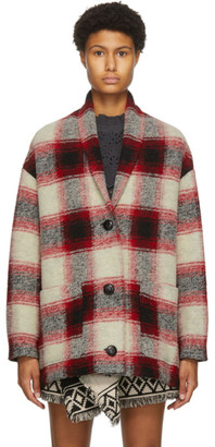 Etoile Isabel Marant Red and Black Wool Elomia Jacket