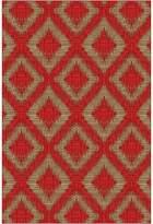 Cornermill Rivan Modern Rug, Red, 160x225cm