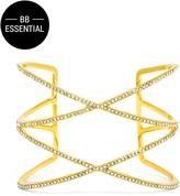 BaubleBar Helix Cuff-Clear/Gold
