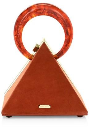 Cult Gaia Thalia Suede Top Handle Bag