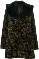 Marc Jacobs textured fur collar coat