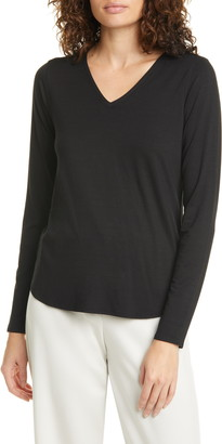 Eileen Fisher V-Neck Long Sleeve Tee