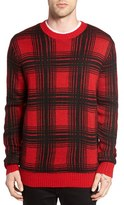 Obey Men's Backside Plaid Sweater