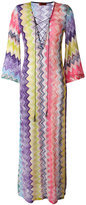 Missoni zig-zag beach cover-up - women - Cotton/Viscose - 40