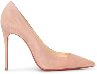 Christian Louboutin Kate 100 courtisane suede pumps