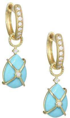 Jude Frances Diamond, Turquoise & 18K Yellow Gold Earring Charms