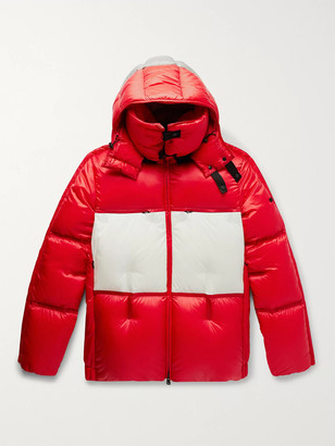 MONCLER GENIUS 5 Moncler Craig Green Coolidge Colour-Block Quilted Shell Hooded Down Jacket - Men - Red