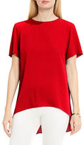 Vince Camuto High-Low Hem Textured Tee