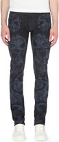 Versace Baroque-print Regular-fit Tapered Jeans