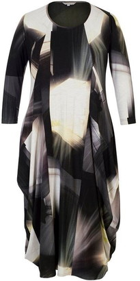 Chesca Abstract Window Pane Print Jersey Dress