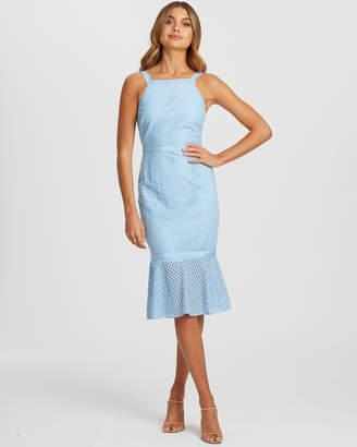 Mica Lace Midi Dress