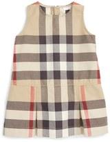 Burberry 'Mini Dawny' Sleeveless Check Print Dress (Baby Girls)