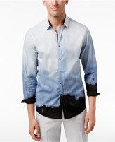 INC International Concepts Men's Gradient-Print Cotton Shirt, Created for Macy's