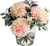 Winward Silks 9 Dahlias Arrangement in Vase, Faux