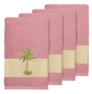 Linum Home Turkish Cotton Colton 4-Pc. Embellished Hand Towel Set Bedding