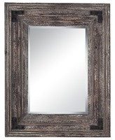 Lazy Susan 38 in. Reclaimed Wood Mirror
