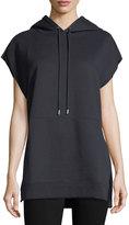 ATM Anthony Thomas Melillo Brushed Flannel Sleeveless Hooded Sweatshirt