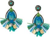 Ranjana Khan fringe trim drop earrings
