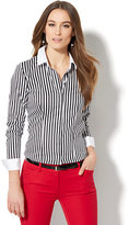 New York & Co. 7th Avenue Design Studio - Madison Stretch Shirt - French-Cuff - Stripe