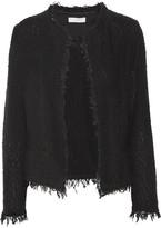 IRO Shavani Frayed Cotton-blend Bouclé Jacket - Black