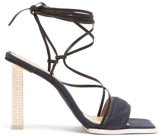 Jacquemus Adour Wraparound Leather Sandals - Black