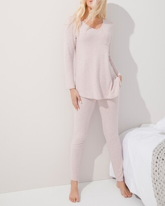 Soma Intimates Brushed Cozy Long Sleeve PJ Set