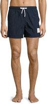 Thom Browne Classic Side-Stripe Swim Trunks, Navy