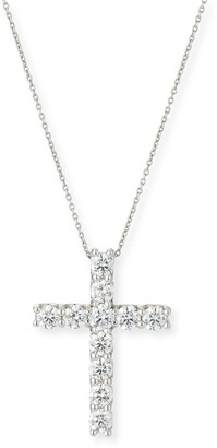 Roberto Coin 18k White Gold Large Diamond Cross Necklace