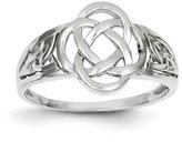 Celtic 14k White Gold Ladies Knot Ring